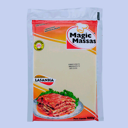 Embalagem  Magic Massa Lasanha